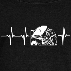 MY HEART BEATS FOR AN MECHANIC! Long Sleeve Shirts - Women's Wideneck Sweatshirt
