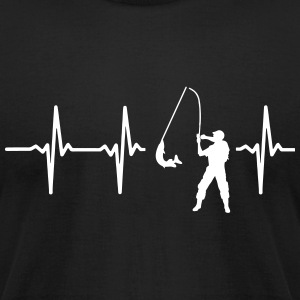 MY HEART BEATS FOR FISHING T-Shirts - Men's T-Shirt by American Apparel