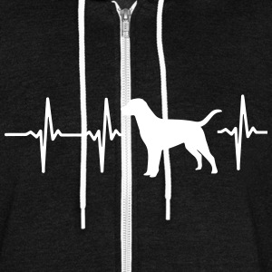 MY HEART BEATS FOR DOGS! I LOVE DOGS! Zip Hoodies & Jackets - Unisex Fleece Zip Hoodie by American Apparel