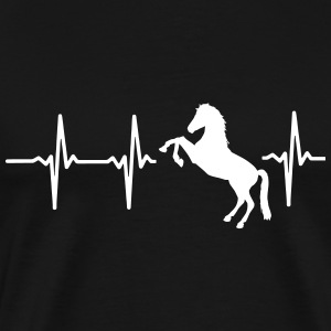 MY HEART BEATS FOR HORSES! T-Shirts - Men's Premium T-Shirt