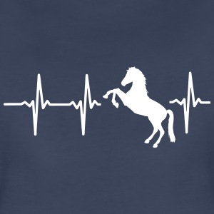 MY HEART BEATS FOR HORSES! Women's T-Shirts - Women's Premium T-Shirt