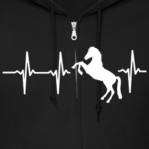 MY HEART BEATS FOR HORSES! Zip Hoodies & Jackets - Men's Zip Hoodie