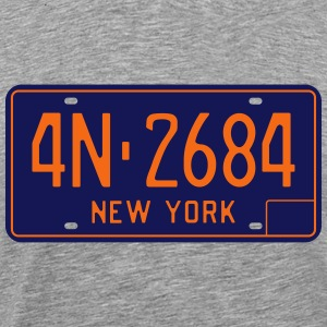 1966-1973 New York license plate - Men's Premium T-Shirt