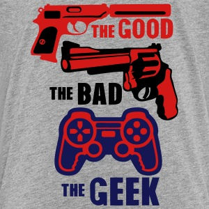 gun joystick geek good bad gun 22 Kids' Shirts - Kids' Premium T-Shirt