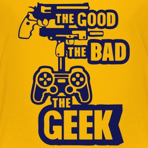 gun joystick geek good bad 2 Kids' Shirts - Kids' Premium T-Shirt