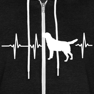 MY HEART BEATS FOR DOGS! I LOVE MY DOG! Zip Hoodies & Jackets - Unisex Fleece Zip Hoodie by American Apparel
