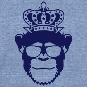 monkey king crown logo front head 910 T-Shirts - Unisex Tri-Blend T-Shirt by American Apparel