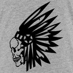 skull indian headdress death head Kids' Shirts - Kids' Premium T-Shirt