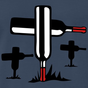 bottle of 910 fatal cemetery cross T-Shirts - Men's Premium T-Shirt