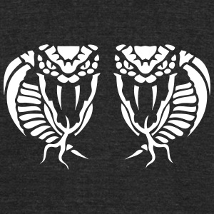 snake cobra head dual 9102 T-Shirts - Unisex Tri-Blend T-Shirt by American Apparel