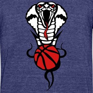 basketball logo 2 snakes cobra T-Shirts - Unisex Tri-Blend T-Shirt by American Apparel