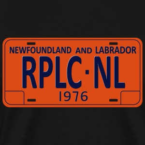 Republic of Newfoundland License Plate - Men's Premium T-Shirt