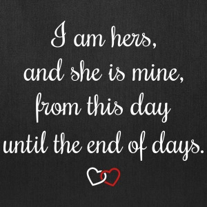 Romantic oath I am hers Bags & backpacks - Tote Bag