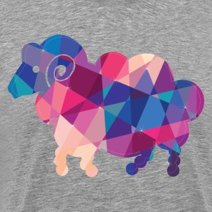 Geometric shapes goat creative art - Men's Premium T-Shirt