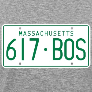 Retro Boston Massachusetts License Plate T-Shirt - Men's Premium T-Shirt