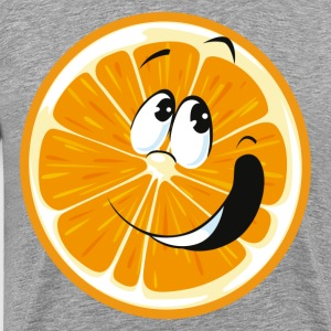 Cartoon orange fruit smiling - Men's Premium T-Shirt