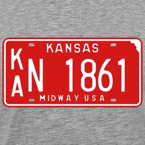 Retro Kansass License Plate T-Shirt - Men's Premium T-Shirt