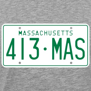 Retro Massachusetts License Plate T-Shirt - Men's Premium T-Shirt