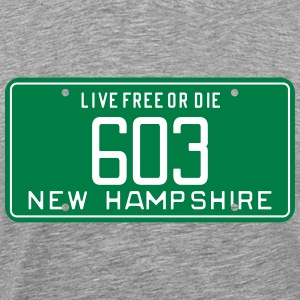 Retro New Hampshire License Plate T-Shirt - Men's Premium T-Shirt