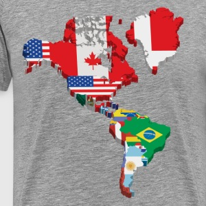 South America and North America continents flags T-Shirts - Men's Premium T-Shirt