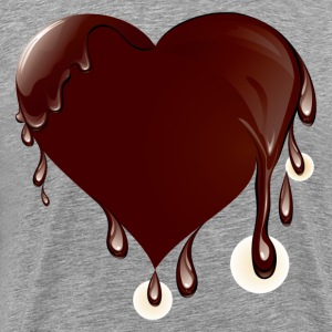 Chocolate heart melting T-Shirts - Men's Premium T-Shirt