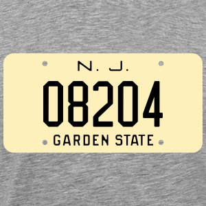 1959 Cape May Zip Code New Jersey License Plate T - Men's Premium T-Shirt