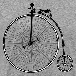 Vintage old fashioned bicycle clip art T-Shirts - Men's Premium T-Shirt