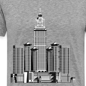 Makkah royal clock tower hotel skyscraper T-Shirts - Men's Premium T-Shirt
