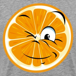 Funny orange cartoon expression T-Shirts - Men's Premium T-Shirt