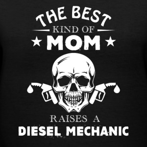 Diesel Mechanic Mom Shirt - Women's V-Neck T-Shirt