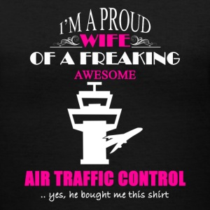 Air Traffic Control Wife - Women's V-Neck T-Shirt