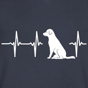 MY HEART BEATS FOR DOGS T-Shirts - Men's V-Neck T-Shirt by Canvas