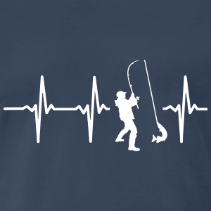 MY HEART BEATS FOR FISHING! T-Shirts - Men's Premium T-Shirt