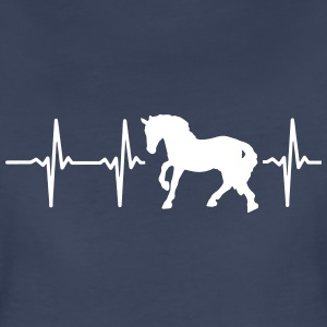 I LOVE HORSES! MY HEART BEATS FOR HORSES! Women's T-Shirts - Women's Premium T-Shirt