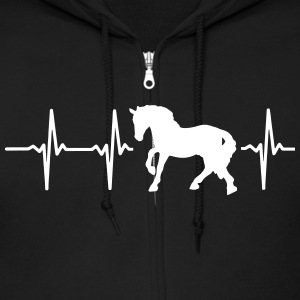 I LOVE HORSES! MY HEART BEATS FOR HORSES! Zip Hoodies & Jackets - Men's Zip Hoodie