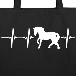 I LOVE HORSES! MY HEART BEATS FOR HORSES! Bags & backpacks - Eco-Friendly Cotton Tote
