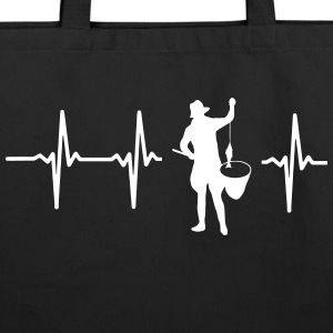 MY HEART BEATS FOR FISHING Bags & backpacks - Eco-Friendly Cotton Tote