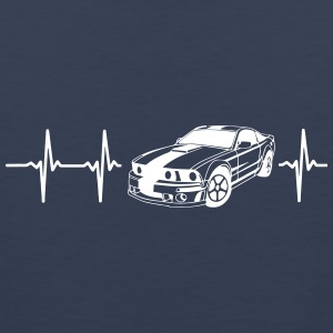 MY HEART BEATS FOR MUSCLE CARS! Sportswear - Men's Premium Tank