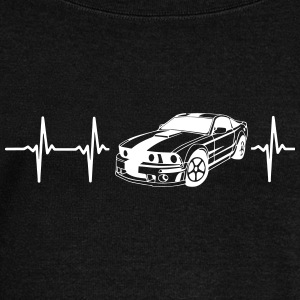 MY HEART BEATS FOR MUSCLE CARS! Long Sleeve Shirts - Women's Wideneck Sweatshirt