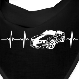 MY HEART BEATS FOR MUSCLE CARS! Caps - Bandana