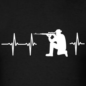 MY HEART BEATS FOR THE MILITARY T-Shirts - Men's T-Shirt