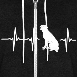 MY HEART BEATS FOR DOGS Zip Hoodies & Jackets - Unisex Fleece Zip Hoodie by American Apparel
