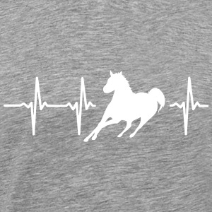MY HEART BEATS FOR HORSES T-Shirts - Men's Premium T-Shirt