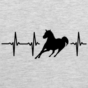 MY HEART BEATS FOR HORSES Sportswear - Men's Premium Tank