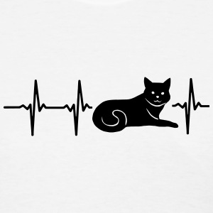 MY HEART BEATS FOR CATS Women's T-Shirts - Women's T-Shirt