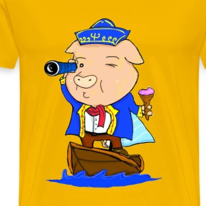 Captain Piggy - Men's Premium T-Shirt