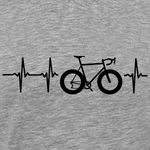I LOVE MY BICYCLE! MY HEART BEATS FOR MY BIKE! T-Shirts - Men's Premium T-Shirt
