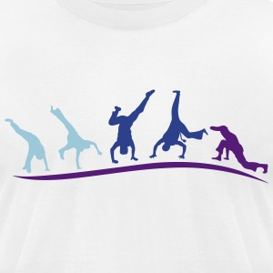 animation capoeira group 1 T-Shirts - Men's T-Shirt by American Apparel