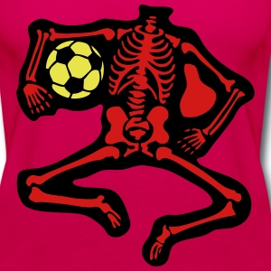 3 soccer skeleton Tanks - Women's Premium Tank Top