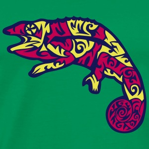 mexican style tribal chameleon 1 T-Shirts - Men's Premium T-Shirt